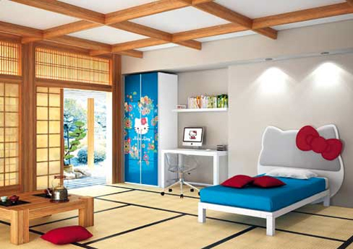 Oriental Hello Kitty Kids Bedroom