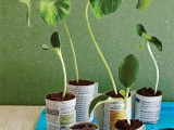 DIY Recycled Seed Pots from Newspapers and Magazines