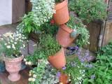 DIY Flower Pot Herb Tower