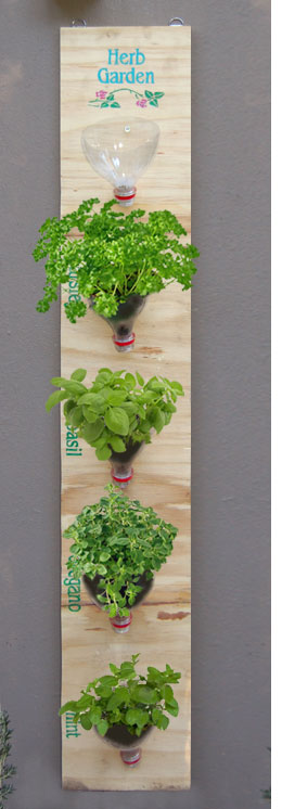 DIY Hanging Herb Garden (via home-dzine)