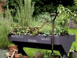 DIY Wooden Raised Bed With A Stencil