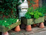 Upcycled Container Herb Garden