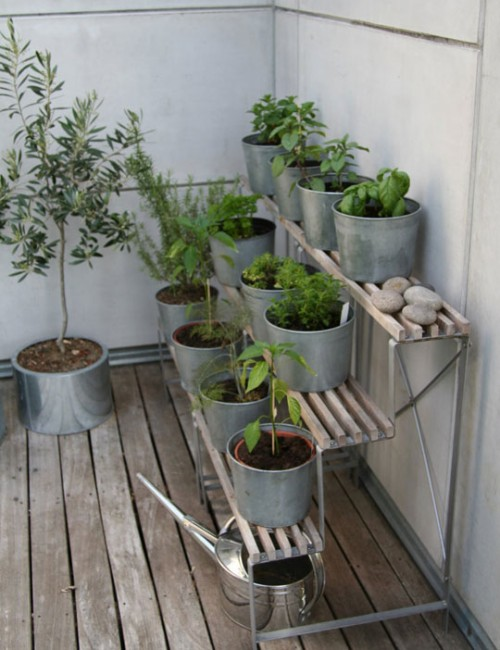 Terraced Herb Garden (via apartmenttherapy)