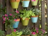 DIY Colorful Vertical Garden On A Fence