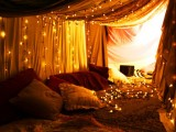 Holiday Lights In A Bedroom
