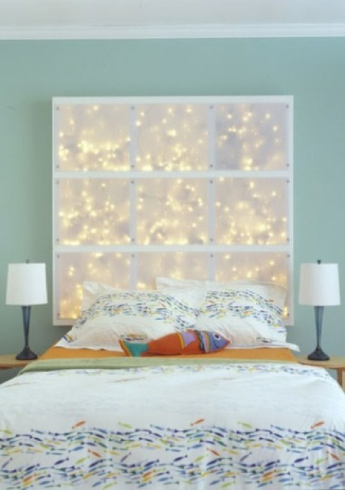 This DIY LED headboard could make your bedroom magical not only for Christmas but for the whole year.