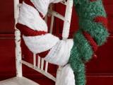 Holiday Scarf Wreath