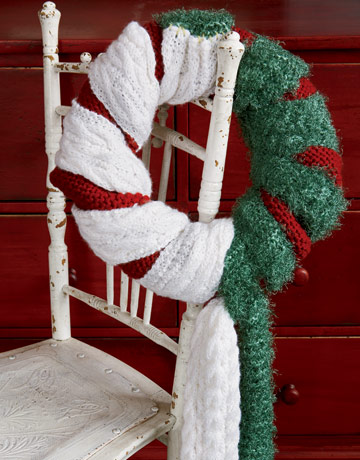 Holiday Scarf Wreath