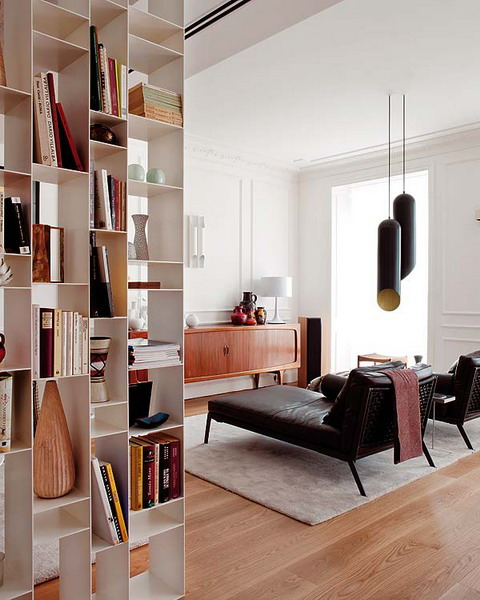 Make A Living Room A Library: Picture Of Home Library In A Living Room