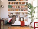 built-in bookshelves are great for storing books and don't take any floor space at the same time