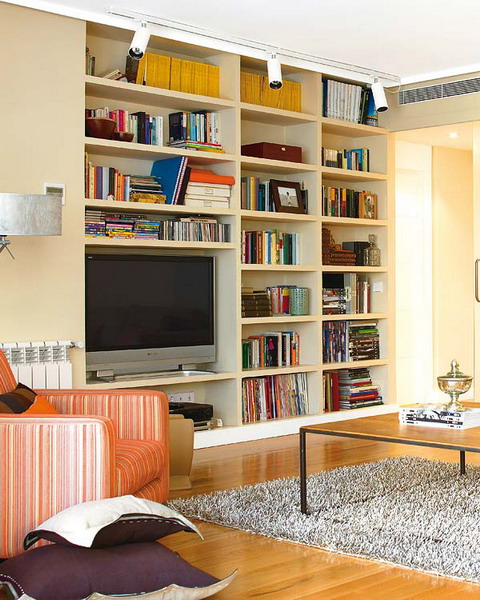 Organize Living Room Ideas: 50 Ideas To Organize A Home Library In A Living Room
