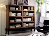 a modern bookcase looking refined, a fresh take on classics is a cool idea to spruce up a neutral space