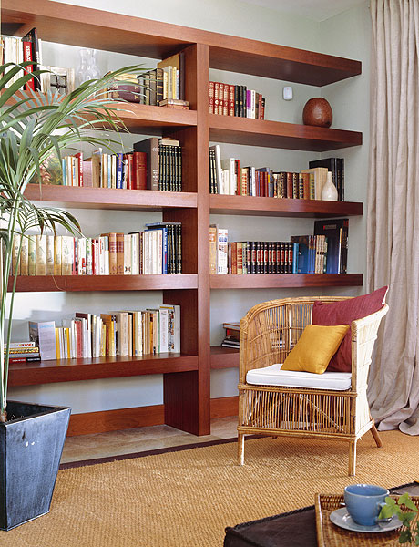 Picture Of Home Library In A Living Room