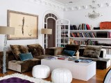 long open shelves taking the whole wall will let you accommodate a lot of things and they are very easy to install