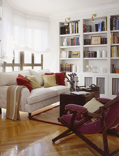 Living Room Library Design Ideas