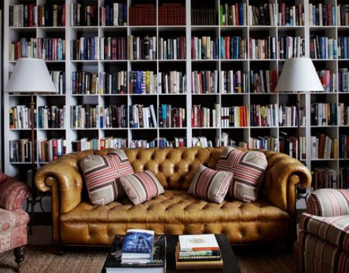 Home Library Shelving Cool Of Chesterfield Sofa Library Photos