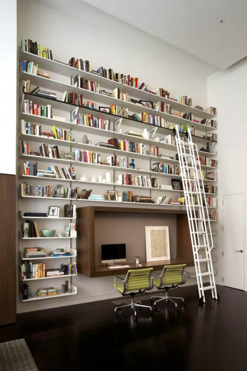 15 Creative Home Library Shelves Organization Ideas