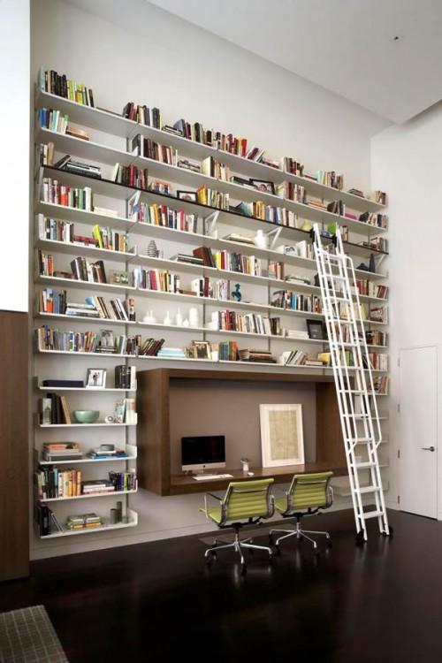 15 Creative Home Library Shelves Organization Ideas