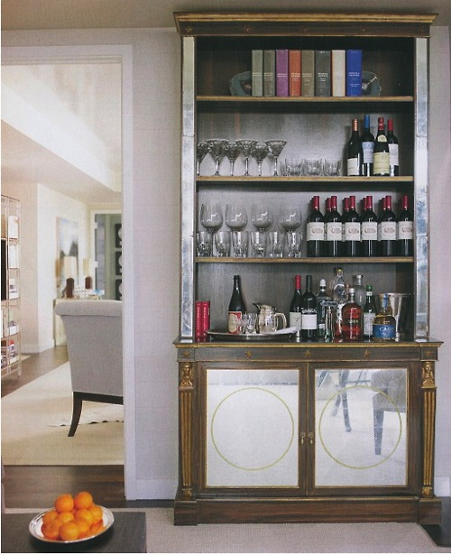 you can hide your home bar in an antique closet when it isn 39 t needed