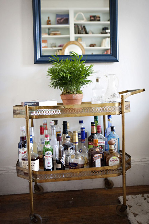 vintage dresser would make your home bar a centrepiece of any room