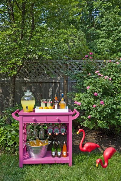 An outdoor bar cart shouldn't be boring!