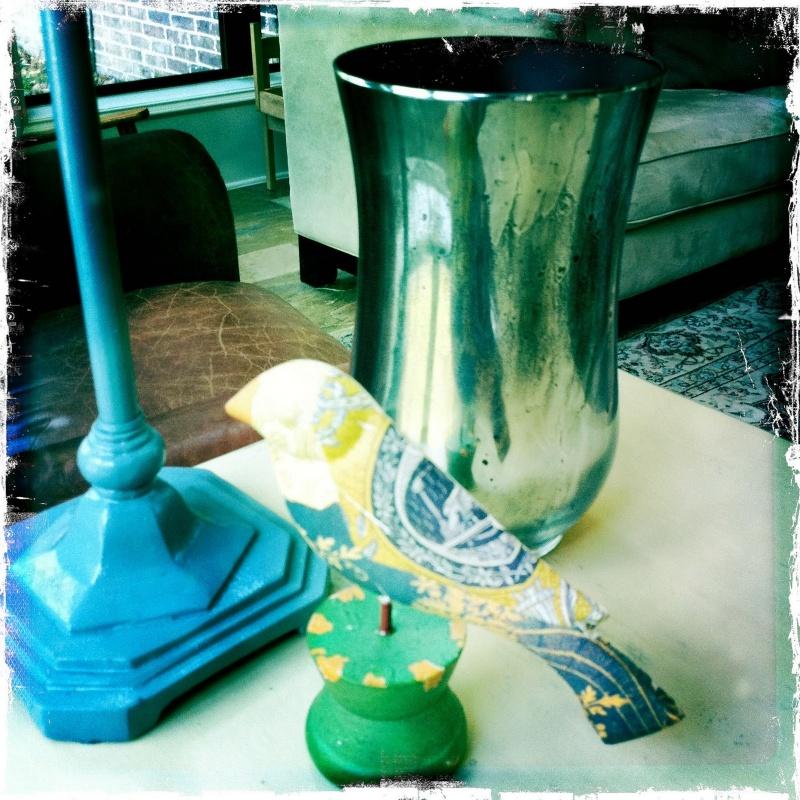 Homemade Faux Mercury Glass