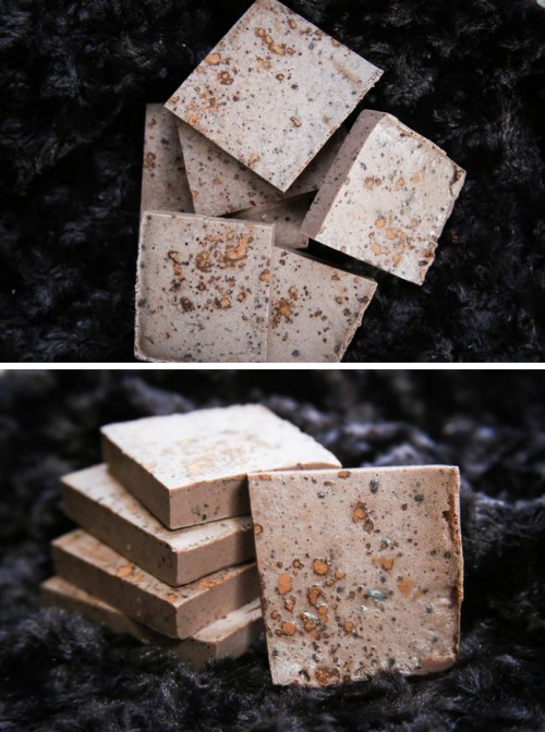 Homemade Mint And Cocoa Soap Bars
