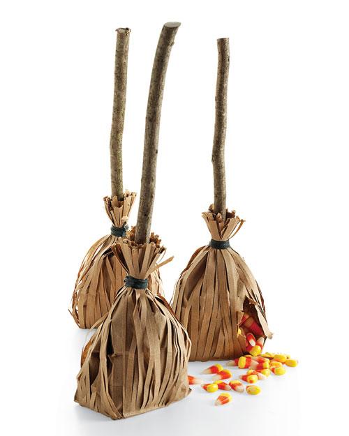 Wedding Broom Ideas: Homemade Broomstick Halloween Party Favors