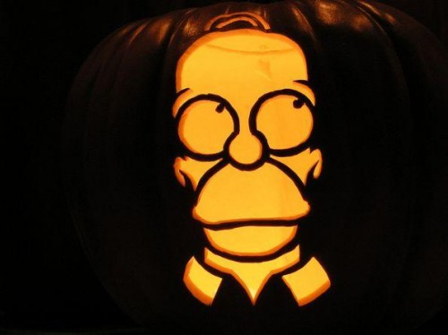 Homer Simpson Pumpkin