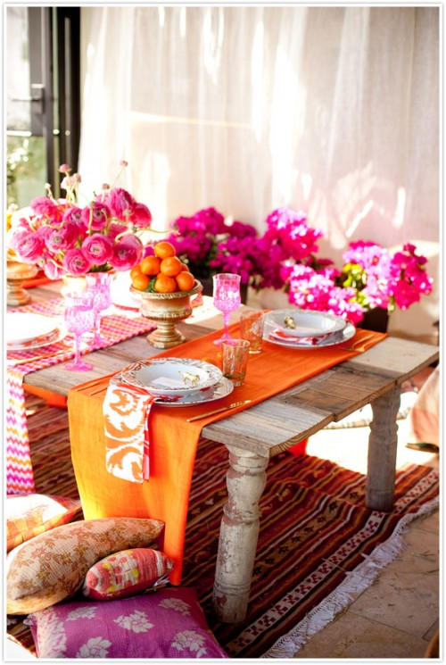 low shabby chic table