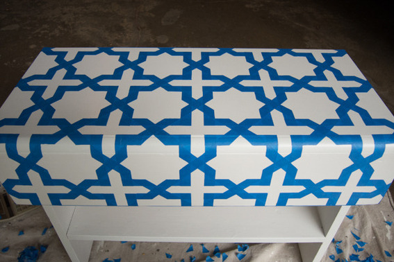 moroccan bench makeover