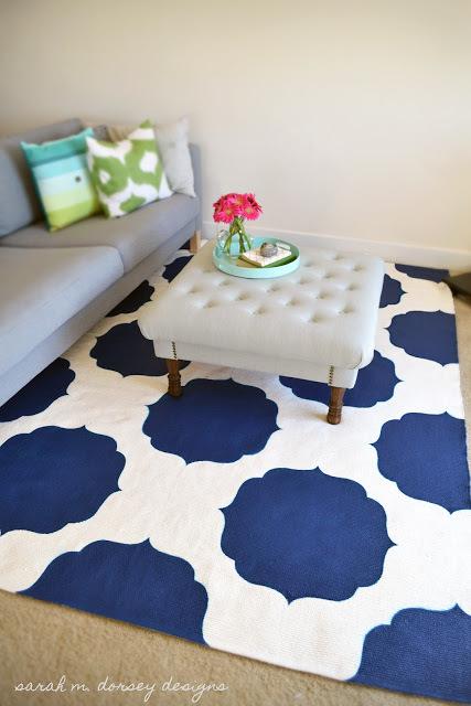 painted moroccan rug (via gilltypleasure)