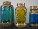 beautiful gilded lanterns