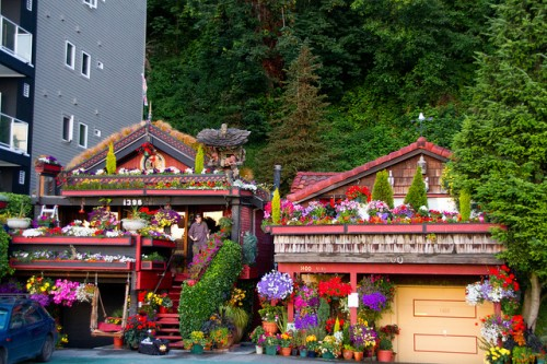 Flower Covered House Exteriors
