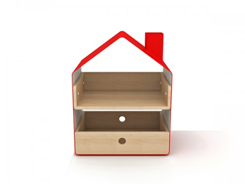 Tabletop Storage Organizers Shaped Like Houses
