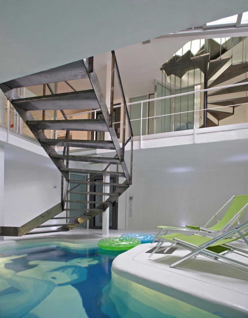 Beautiful Houses With Swimming Pool Inside Picture Of House With A