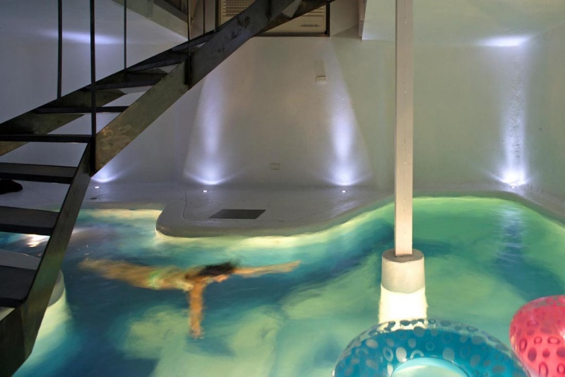 Refurbishment Of An Old House With A Pool On The First Level Photo