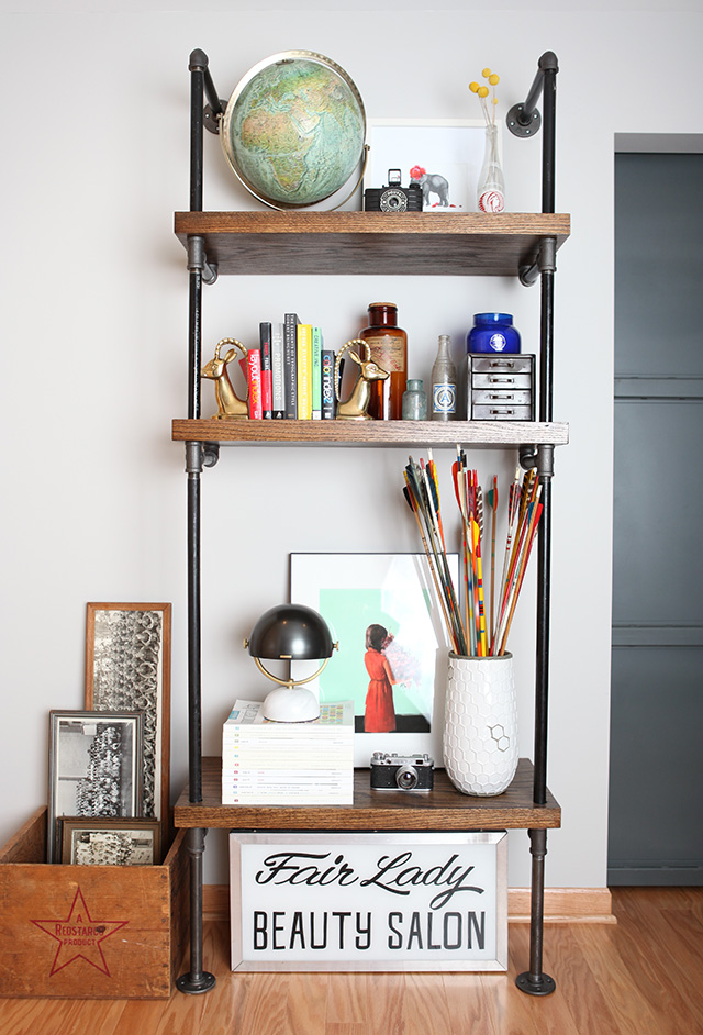 Picture Of how to build an industrial pipe shelf  1