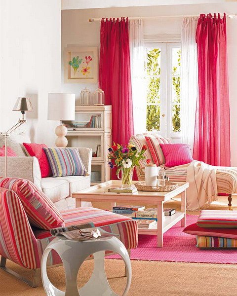 How to change the mood in any room using fabrics shelterness - Romantic living room ideas for feminine young ladies casa ...