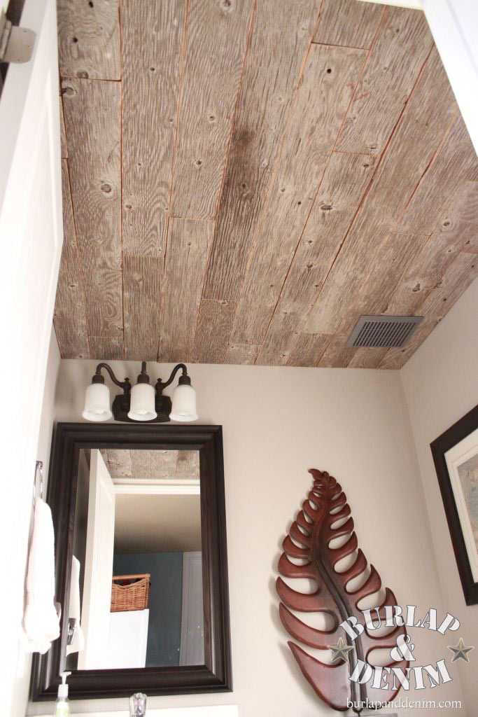reclaimed barn wood ceiling