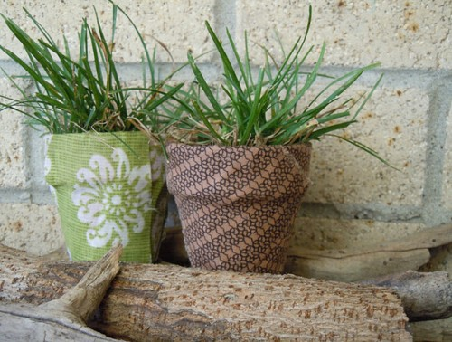 How To Make Planters And Vases Looks Better Using Fabric