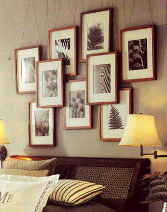 15 creative ideas to hang photos and art shelterness - Hanging photo frames ideas ...