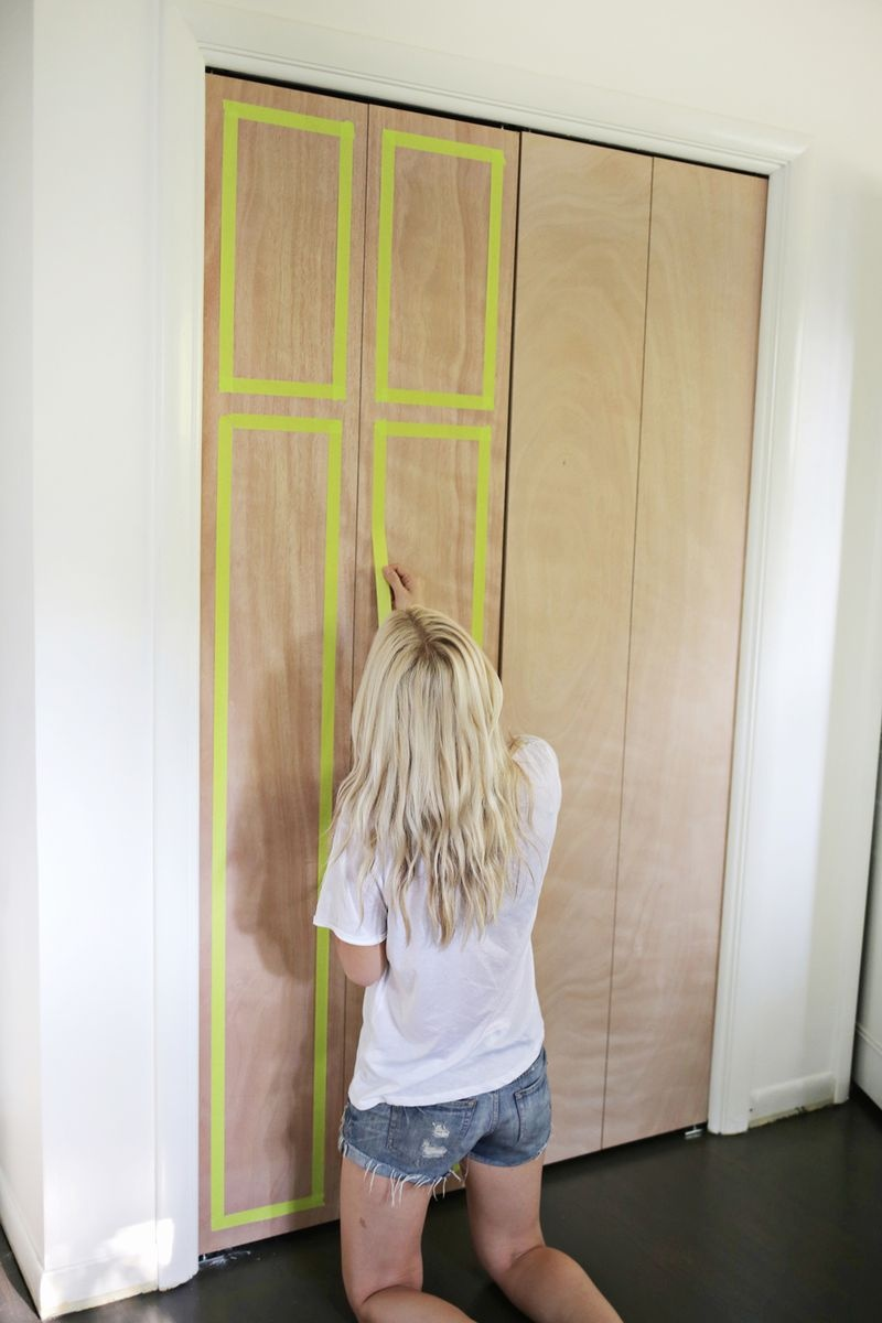 Picture Of how to customize your closet doors with trim  2