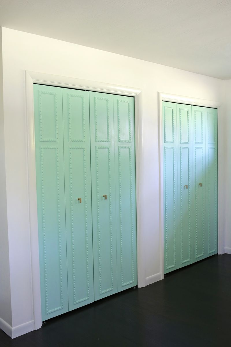 Picture Of how to customize your closet doors with trim  5