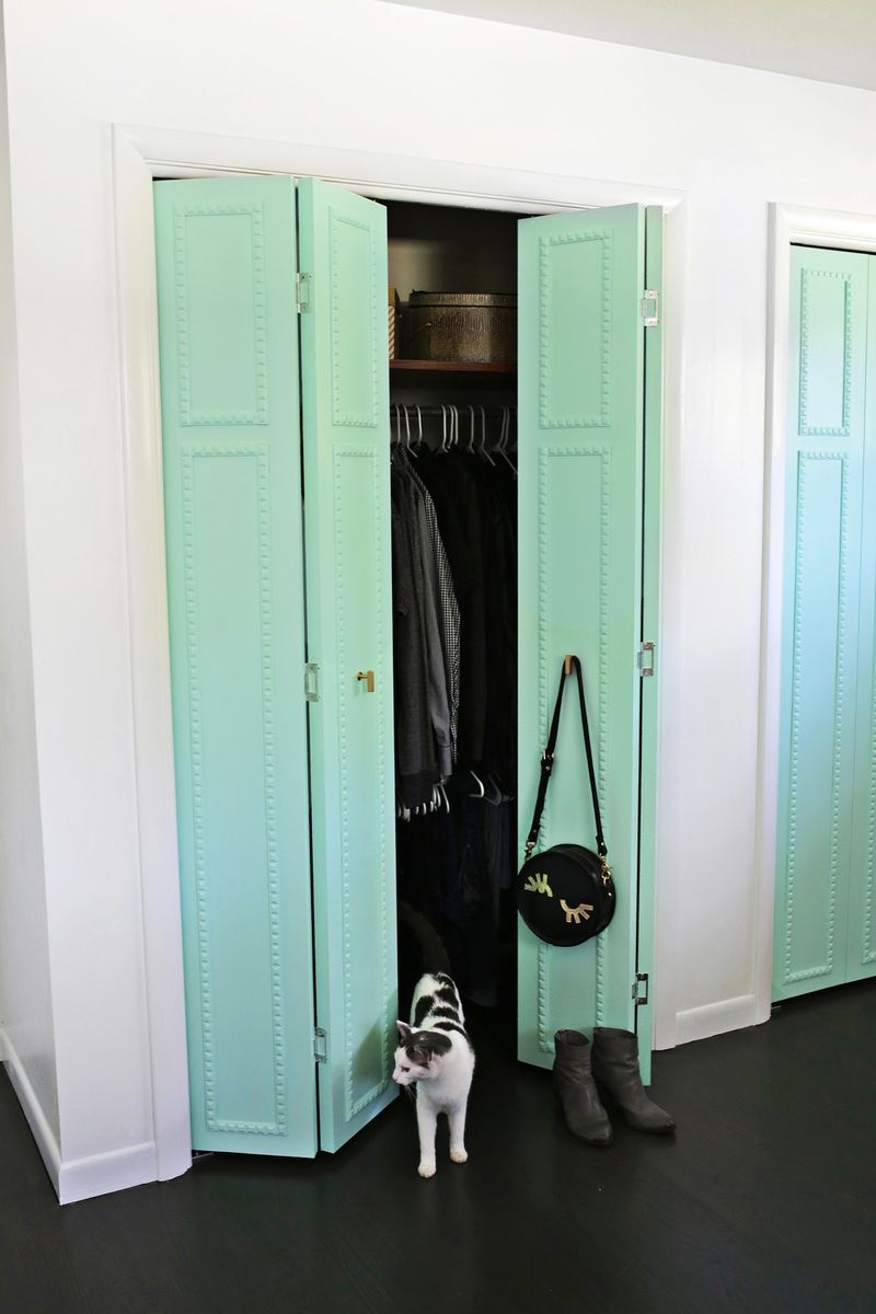 Picture Of how to customize your closet doors with trim  6