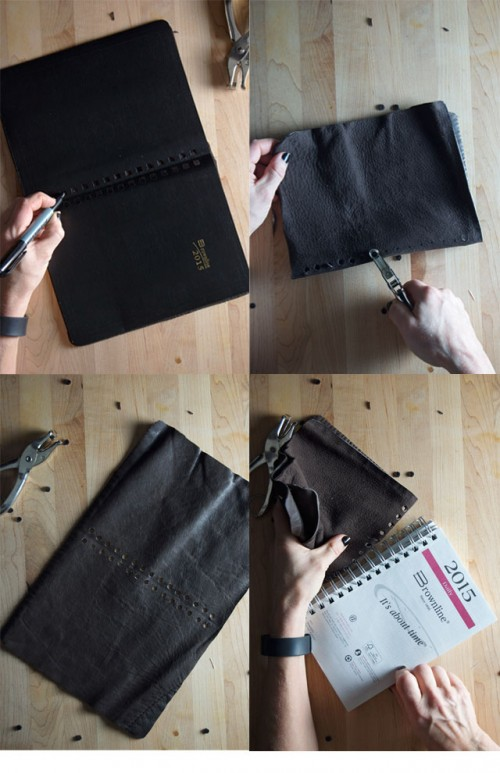 How To Decorate A Day Planner With Leather