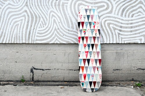 How To Decorate A Skateboard With Patchwork