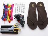 How To Decorate Flip Flops With Macrame