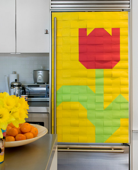 How To Decorate Fridge With Post-It Notes