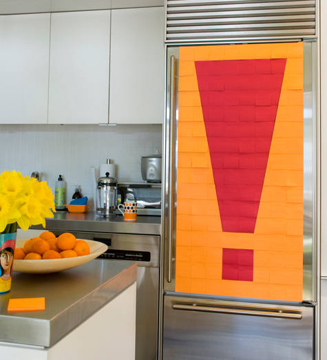 How To Decorate Fridge With Post It Notes